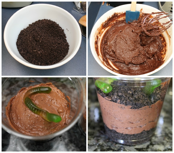 Recipe for Yummy Dirt Cup Treat from Creative Green Living.com at B-InspiredMama