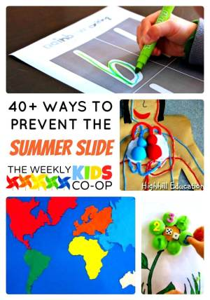 40+ Ways to Prevent the Summer Slide at The Weekly Kids Co-Op