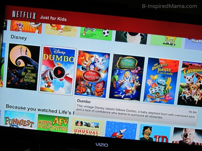 Netflix for Kids for Family Movie Night at B-InspiredMama.com