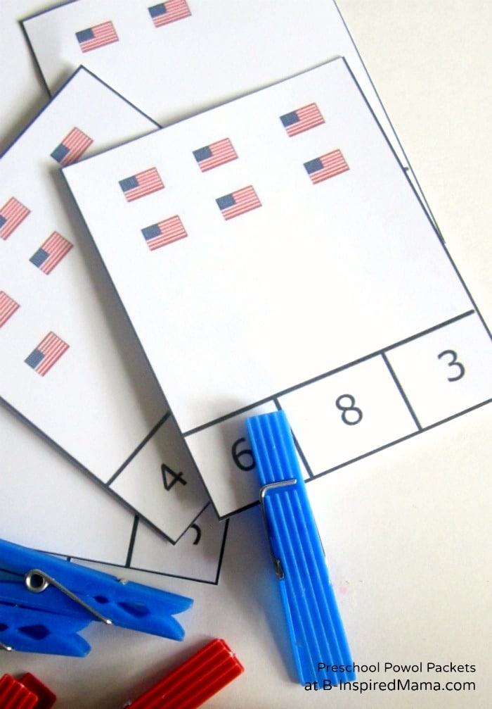 Printable Flag Counting Game [Contributed by Preschool Powol Packets]