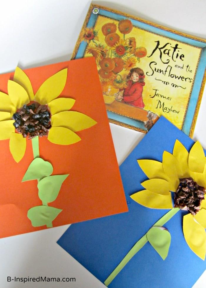 Book Inspired Sunflower Kids Craft at B-InspiredMama.com
