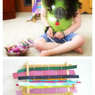 A Kids Weaving Craft [From the Mamas]