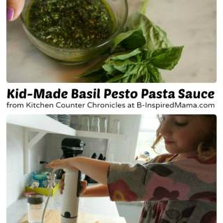 A Yummy Basil Pesto Kids Recipe [Contributed by Kitchen Counter Chronicles]