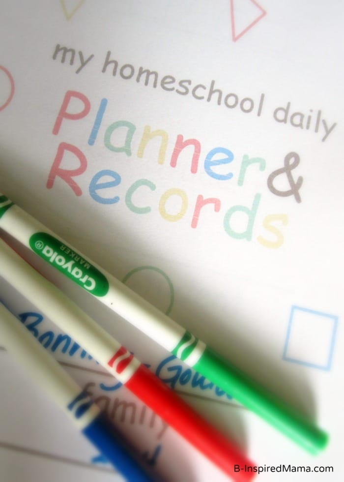 Homeschool Planning Made Easy at B-InspiredMama.com