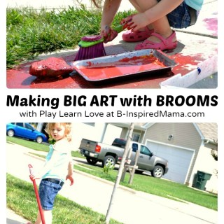 Big Art Broom Painting [Contributed by Play Learn Love]