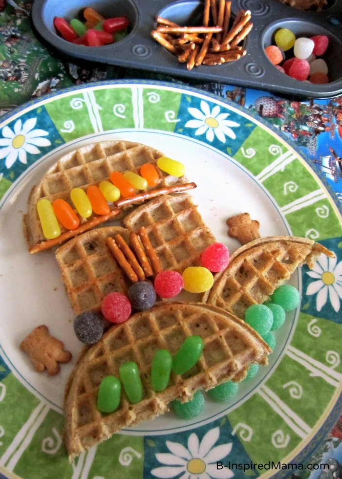 A Creative Eggo Waffle and Candy Kids Snack at B-Inspired Mama