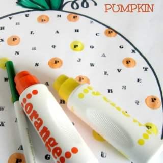 P is for Polka Dot Pumpkin Halloween Activity