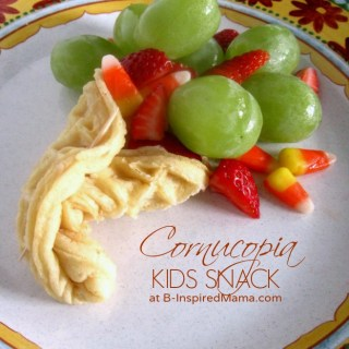Kids Thanksgiving Cornucopia Snack