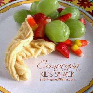 Kids Thanksgiving Cornucopia Snack