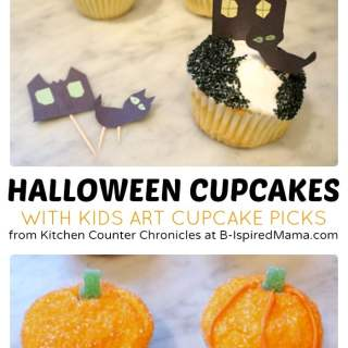 Creative Kids Halloween Cupcakes [Contributed by Kitchen Counter Chronicles]