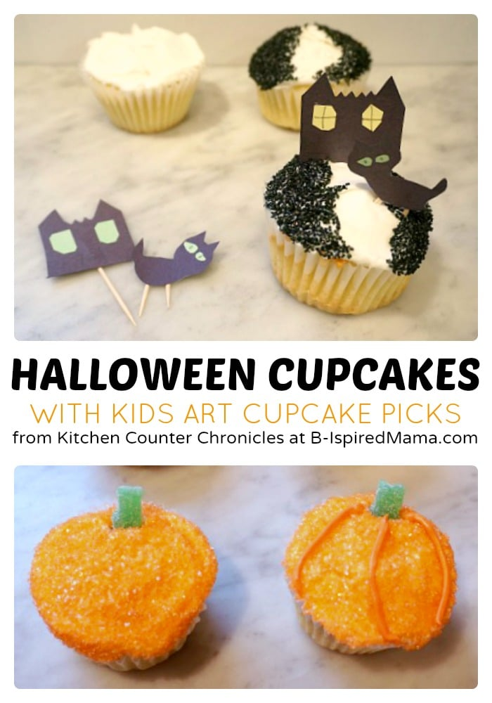 Creative Kids Halloween Cupcakes at B-Inspired Mama