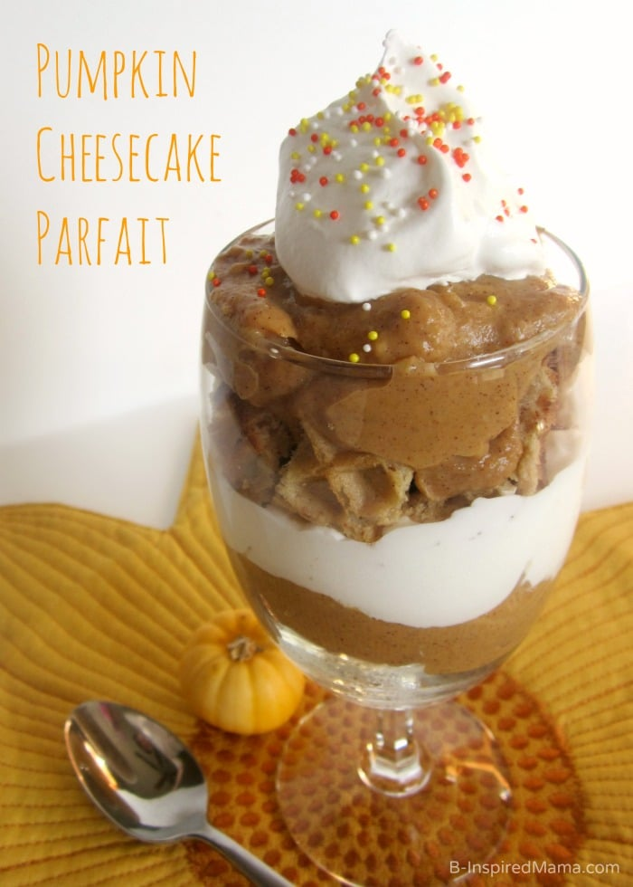 Easy Pumpkin Cheesecake Parfait with Eggo at B-Inspired Mama