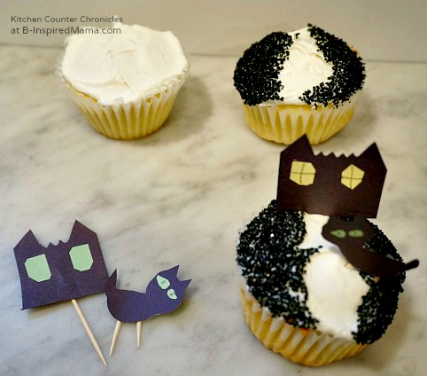 haunted house halloween cupcakes at binspired mama