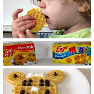 A Quick Minnie Mouse Kids Breakfast [Sponsored by Eggo]