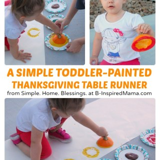 A Kids Thanksgiving Table Runner