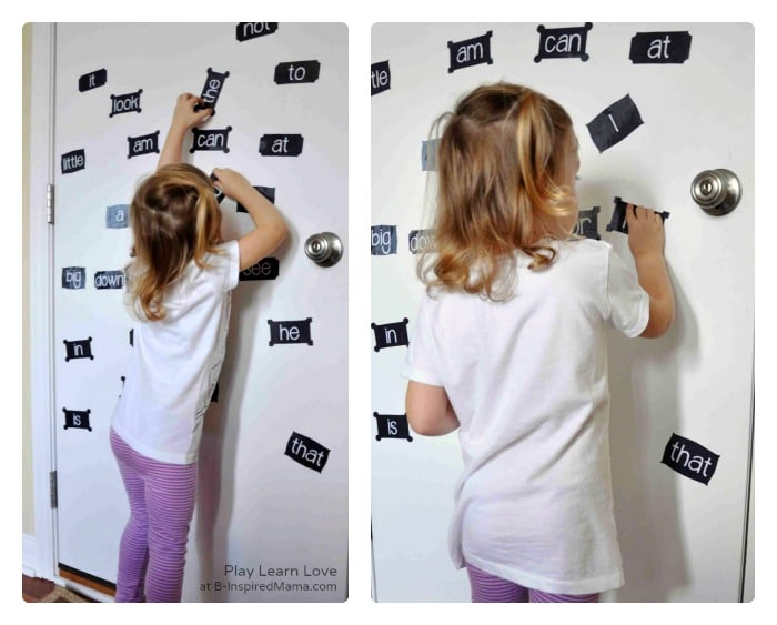 Sight Word Activities with DIY Magnets [Contributed by Play Learn Love]