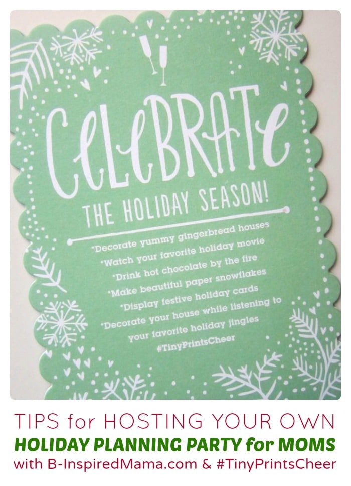 Host Your Own Creative Holiday Planning Moms Night Out - Sponsored by #TinyPrintsCheer at B-Inspired Mama