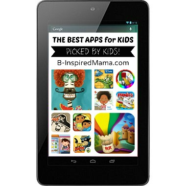 Best Apps for Kids + Google Nexus 7 Tablet from Staples at B-Inspired Mama