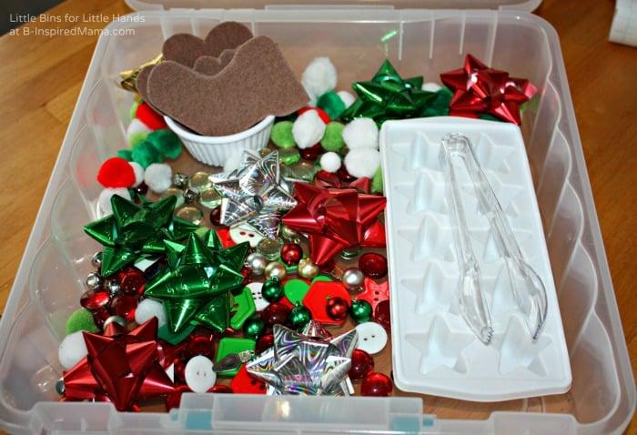 Christmas Themed - Easy Sensory Bin Gift Ideas at B-Inspired Mama