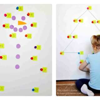 Giant Holiday Dot-to-Dot Counting Games [Contributed by Play Learn Love]