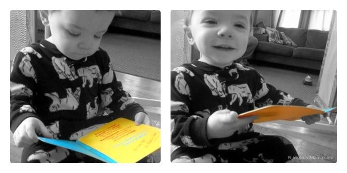 JC Reading his Birthday Card - #BirthdaySmiles #shop #cbias - B-Inspired Mama