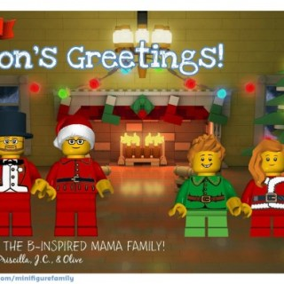 Free LEGO Minifigure Family Cards for the Holidays