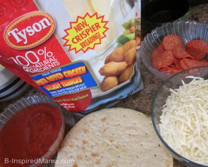 Ingredients - Valentine's Day Kids Pizza Fun - #shop #collectivebias #LuvTyson