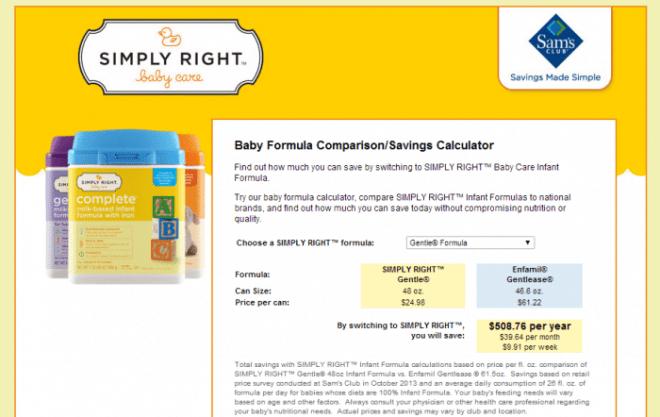 Simply Right Formula Costs at B-Inspired Mama
