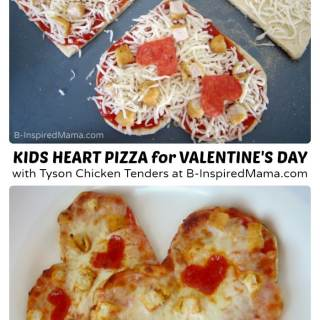 Kids Pizza Making for Valentine's Day