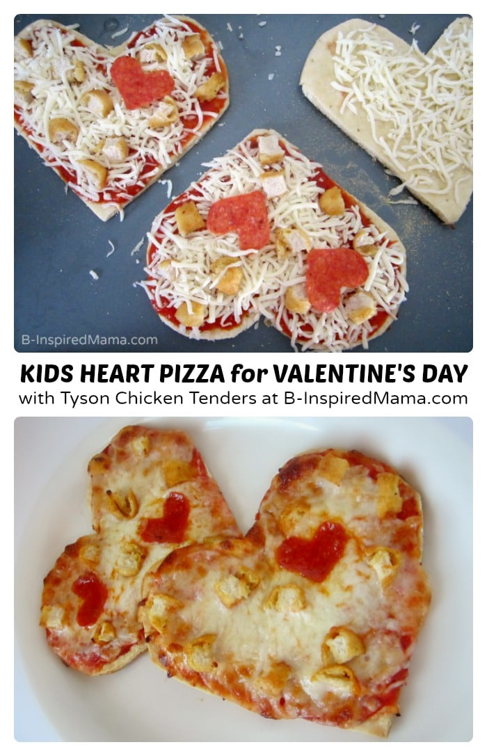 Easy heart shaped valentines day pizza no delivery required for Kid friendly valentine recipes