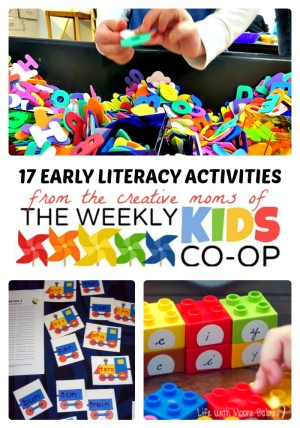 17 Early Literacy Activities from The Weekly Kids Co-Op at B-Inspired Mama