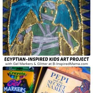 Glittery Egyptian Inspired Art Project