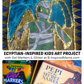 Glittery Egyptian Inspired Art Project