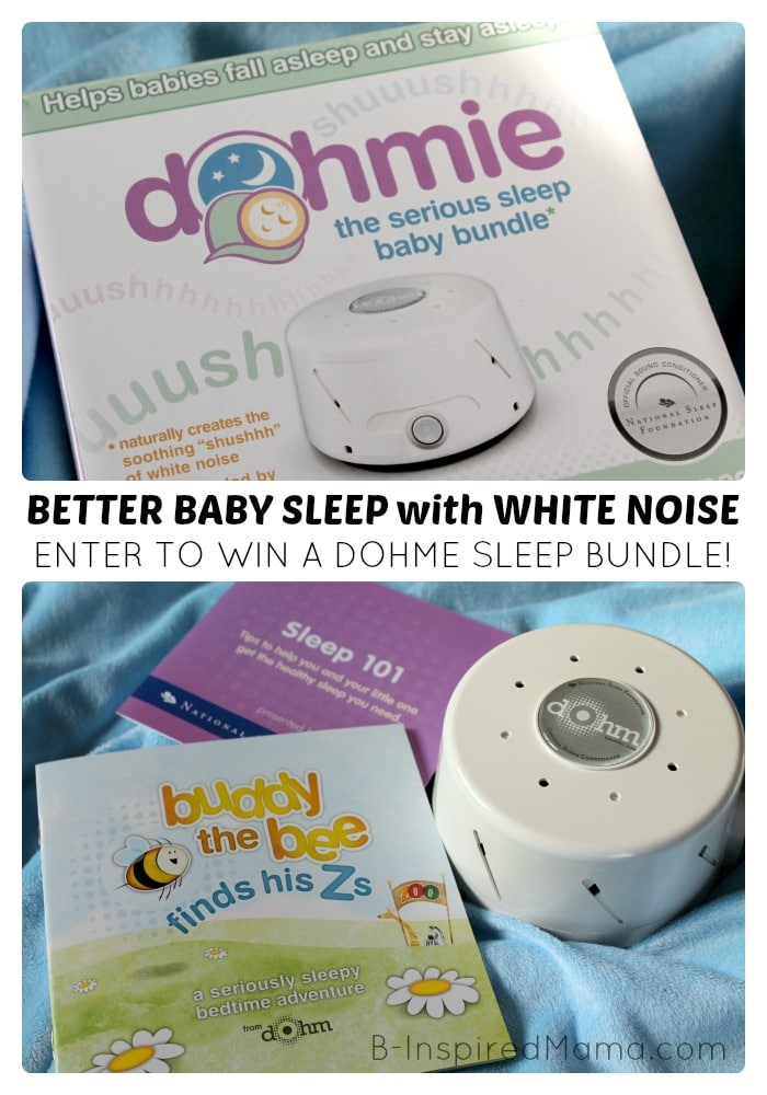 Better Baby Sleep with White Noise + A Giveaway #Sponsored by Marpac at B-Inspired Mama