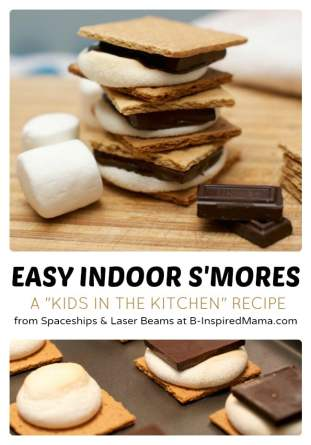 Easy Indoor S'Mores - Kids in the Kitchen at B-Inspired Mama