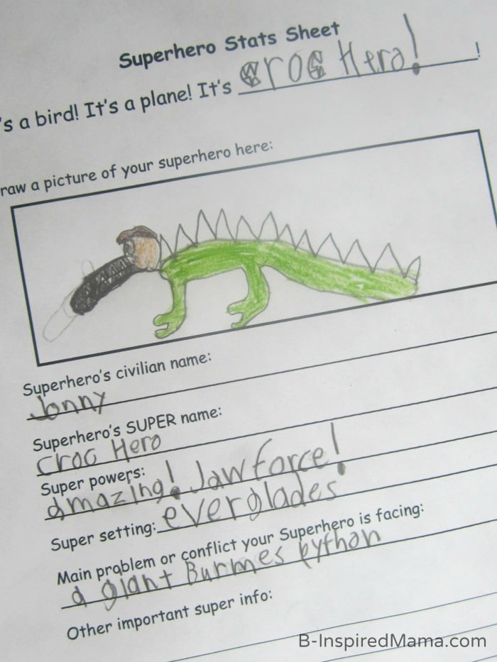 Make Your Own Superhero Play and Learning – Make Your Own Worksheets