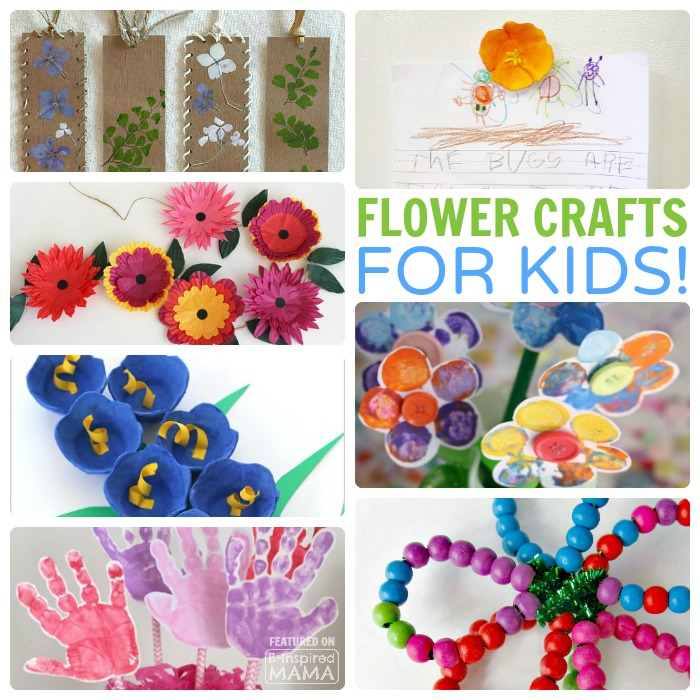 31 Fun and Creative Flower Crafts for Kids - Perfect for Spring - at B-Inspired Mama