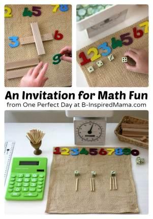 A Simple Math Fun Space at B-Inspired Mama