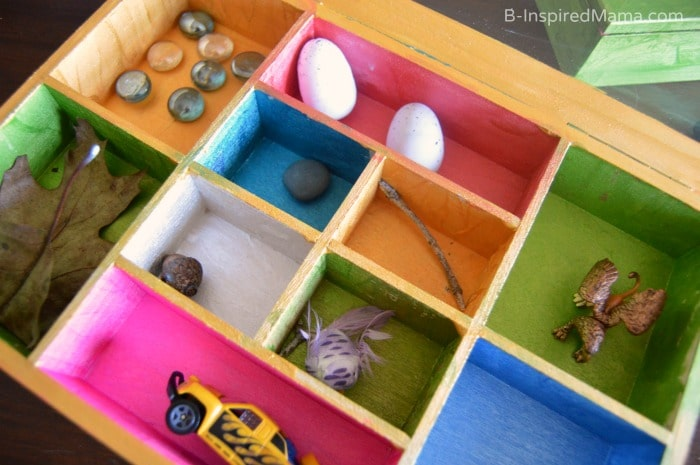 Collection Box Kids Craft - Painting Inside - Priscilla's Collection - at B-Inspired Mama