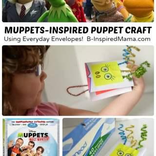 Muppet-Inspired Envelope Puppet Craft