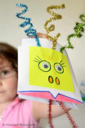 Muppets Inspired Envelope Puppet Craft for Kids - B-Inspired Mama