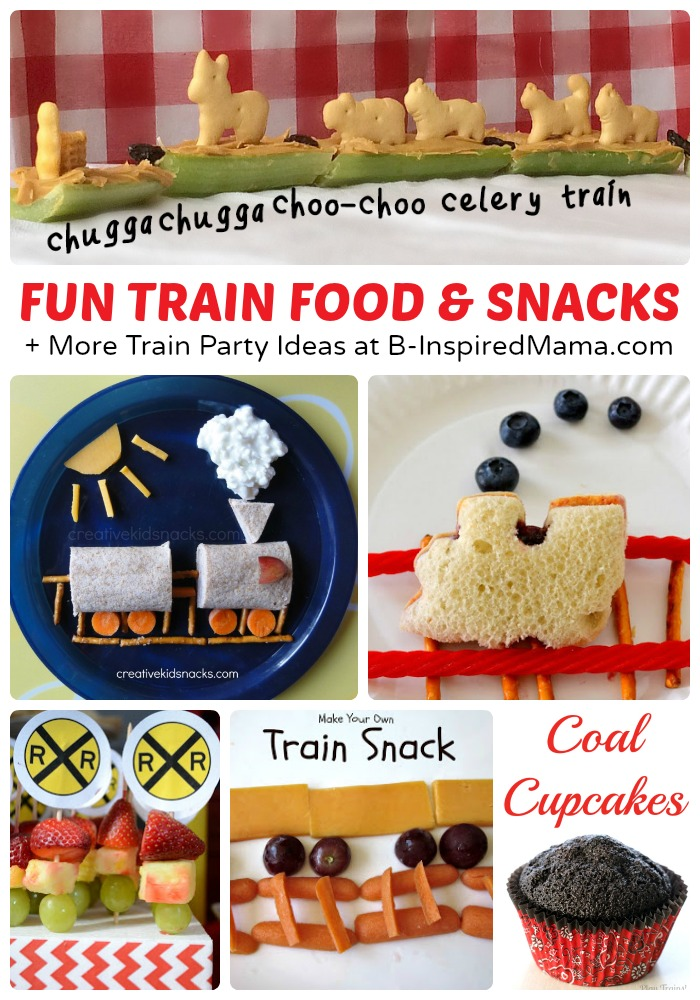 Fun Train Food And Snacks Crafts Party Ideas Too At B