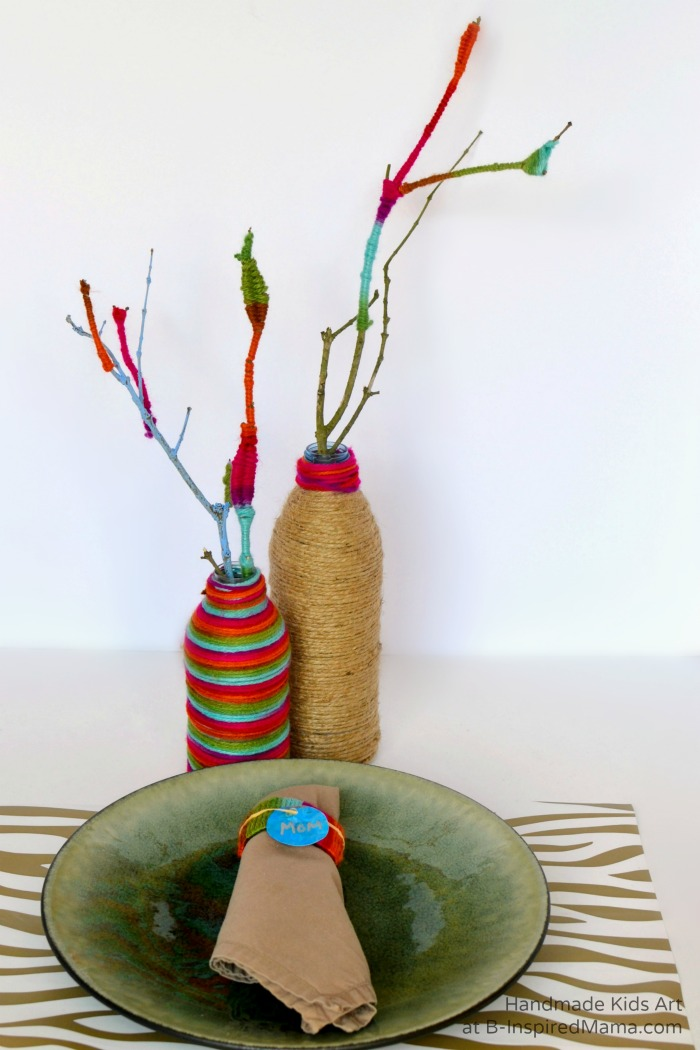 A Kid-Made Table Setting - Thanksgiving Crafts for Kids at B-Inspired Mama