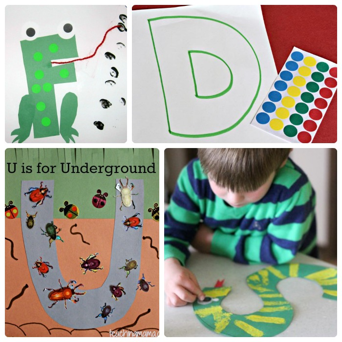 Fun Letter of the Week Crafts [From A to Z!] + The Weekly Kids Co-Op Link Party at B-Inspired Mama