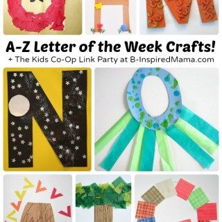 A to Z – Letter of the Week Crafts for Preschoolers