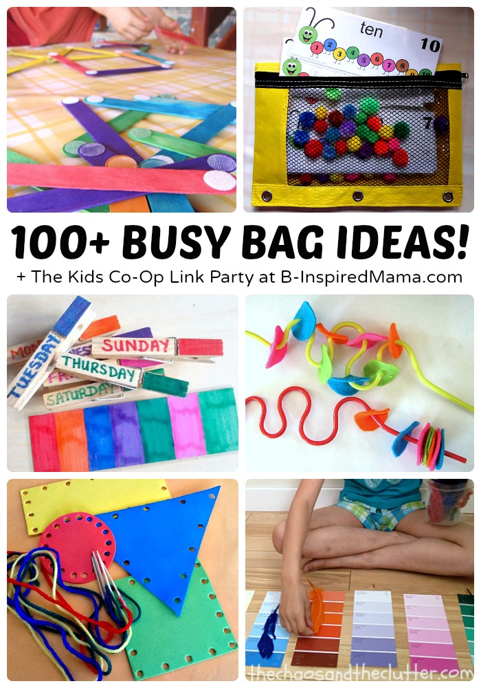 Over 100 {Awesome} Busy Bag Ideas for Toddlers and Preers