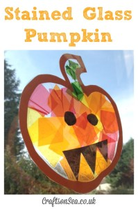 Stained Glass Pumpkin for Learning Colors - 16+ Pumpkin Theme Early Learning Ideas + The Weekly Kids Co-Op Link Party at B-Inspired Mama