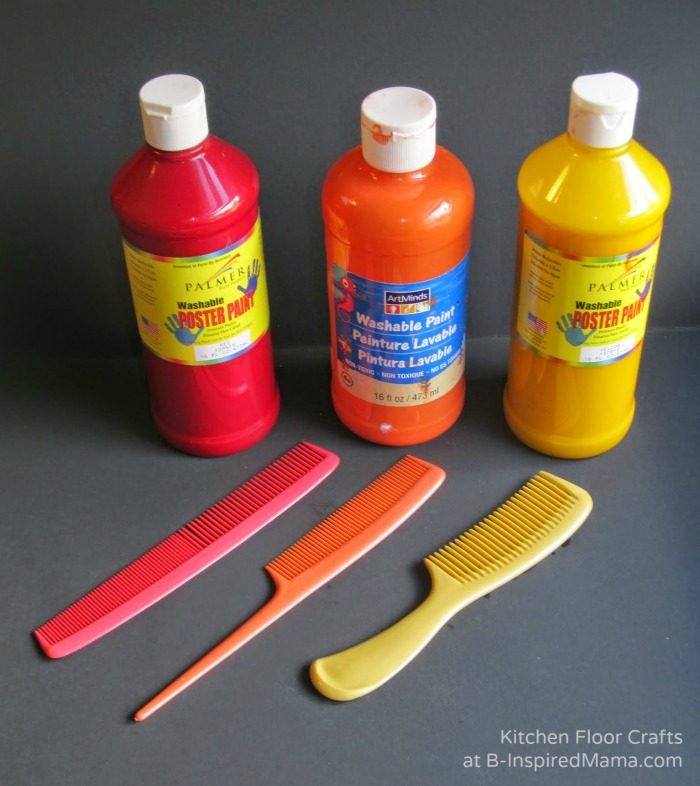 Supplies for Making Homemade Cards for Fightfighters at B-Inspired Mama