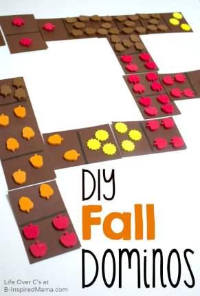 Make DIY Fall Dominos for Cool Math Games - B-Inspired Mama