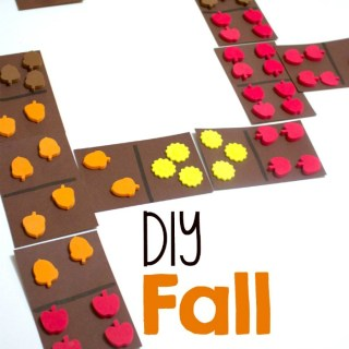 DIY Fall Dominoes for Cool Math Games